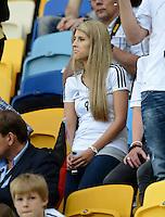 FUSSBALL  EUROPAMEISTERSCHAFT 2012   VORRUNDE Deutschland - Portugal          09.06.2012 Sandra Schoenig (Freundin von Andre Schuerrle) zu Gast auf der Tribuene