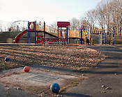 November 27, 2010. Clifton, VA..Playground in the winter.