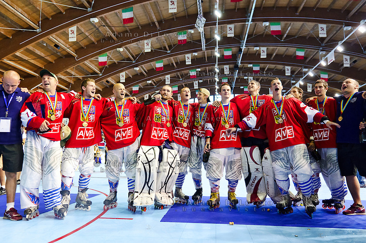 ROCCARASO (AQ):MONDIALI DI HOCKEY INLINE FINALE TRA ITALIA E REPUBBLICA CECA - FINAL ITALY AND CZECH. PHOTO ADAMO DI LORETO