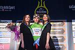 Davide Ballerini (ITA) Androni Giocattoli takes over the Maglia Verde mountains jersey at the end of Stage 6 of the 2017 Tirreno Adriatico running 168km from Ascoli Piceno to Civitanova Marche, Italy. 13th March 2017.<br /> Picture: La Presse/Gian Mattia D'Alberto | Cyclefile<br /> <br /> <br /> All photos usage must carry mandatory copyright credit (&copy; Cyclefile | La Presse)