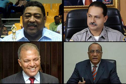 Desde arriba y de izquierda a derecha,Victor Manuel Crispin,  Rafael Guillermo Guzman Fermin,Héctor Medina y Medina,y Manuel de Jesus Florentino
