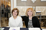 Watertown, CT- 30 March 2017-033017CM09-  From left, volunteers, Rita Rossi of Prospect, and Lorein Cipriano of Waterbury are photographed during The St. Vincent DePaul Mission of Waterbury annual banquet at The Grand Oak Villa in Oakville.  Christopher Massa Republican-American