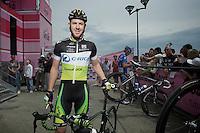 Giro d'Italia stage 13.Savano-Cervere: 121km..Matt Goss before the race