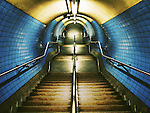 Tunnel and steps in the underground
