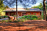 Hidden Brook Vineyard and Winery stands on a wooded lot, surrounded by pine trees that carpet the &quot;yard&quot; with pine needles. (HDR Image)