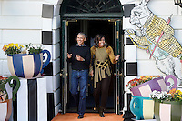 United States President Barack Obama and first lady Michelle Obama arrive at a Halloween event at the South Lawn of the White House October 31, 2016 in Washington, DC. The first couple hosted local children and children of military families for trick-or-treating at the White House.<br /> Credit: Olivier Douliery / Pool via CNP /MediaPunch