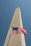 Washington DC USA: The Washington Monument and American flag.Photo copyright Lee Foster Photo # 2-washdc82286