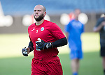 FC Luzern v St Johnstone...16.07.14  Europa League 2nd Round Qualifier<br /> Alan Mannus pictured during training at the Swissporarena ahead of tomorrow's game against FC Luzern<br /> Picture by Graeme Hart.<br /> Copyright Perthshire Picture Agency<br /> Tel: 01738 623350  Mobile: 07990 594431