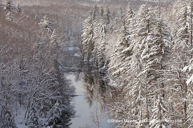 Winter, Dead River, Marquette County, MI