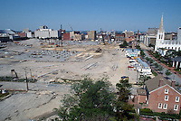 1997 May 06..Redevelopment..Macarthur Center.Downtown North (R-8)..LOOKING WEST.FROM ROTUNDA BUILDING...NEG#.NRHA#..
