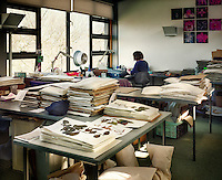 The department of archiving at the Royal Botanical Gardens, Kew in London. Plant species are recorded and catalogued here.