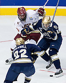 Tim Kunes (BC 6), Ryan Thang (Notre Dame 9) - The Boston College Eagles won the NCAA D1 national championship by defeating the University of Notre Dame Fighting Irish 4-1 in the final of the 2008 Frozen Four at the Pepsi Center in Denver, Colorado on Saturday, April 12, 2008.