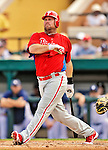 9 March 2012: Philadelphia Phillies infielder Ty Wigginton in action during a Spring Training game against the Detroit Tigers at Joker Marchant Stadium in Lakeland, Florida. The Phillies defeated the Tigers 7-5 in Grapefruit League action. Mandatory Credit: Ed Wolfstein Photo