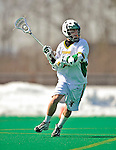23 March 2008: University of Vermont Catamounts' Andrew Kelleher, a Junior from Delmar, NY, in action against the Bellarmine University Knights at Moulton Winder Field, in Burlington, Vermont. The Catamounts defeated the visiting Knights 9-7 at the Vermont home opener...Mandatory Photo Credit: Ed Wolfstein Photo