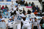26 September 2015: UNC's Marquise Williams. The University of North Carolina Tar Heels hosted the University of Delaware Blue Hens at Kenan Memorial Stadium in Chapel Hill, North Carolina in a 2015 NCAA Division I College Football game. UNC won the game 41-14.