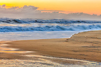 Nags Head beach captured in the  glow of early morning.