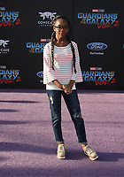 """HOLLYWOOD, CA - April 19: Marsai Martin, At Premiere Of Disney And Marvel's """"Guardians Of The Galaxy Vol. 2"""" At The Dolby Theatre  In California on April 19, 2017. Credit: FS/MediaPunch"""
