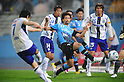 Kosuke Kikuchi (Frontale), MAY 29th, 2011 - Football : Yasuhito Endo of Gamba Osaka takes a free kick as Kosuke Kikuchi of Kawasaki Frontale attempts to block during the 2011 J.League Division 1 match between between Kawasaki Frontale 2-1 Gamba Osaka at Todoroki Stadium in Kanagawa, Japan. (Photo by AFLO).