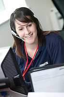01/04/2011 Portrait of help centre colleague at work for Mitie Corporate Services in Bristol. Part of a gallery of images showcasing Mitie's business services and attention to customer care. Photo © Tim Gander 2011, all rights reserved. Tel: 07703 124412 tim@timgander.co.uk