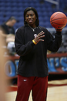 SAN ANTONIO, TX - APRIL 4:  Bobbie Kelsey at practice on April 4, 2010 at the Alamo Dome in San Antonio, Texas.