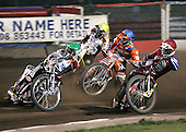 Heat 7 - Richardson (green), Shields (red), Mills (blue), Gjedde (yellow) - Lakeside Hammers vs Swindon Robins - Sky Sports Elite League at Arena Essex, Purfleet - 17/08/07  - MANDATORY CREDIT: Gavin Ellis/TGSPHOTO - SELF-BILLING APPLIES WHERE APPROPRIATE. NO UNPAID USE. TEL: 0845 094 6026..