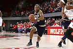 29 December 2016: Notre Dame's Lindsay Allen. The North Carolina State University Wolfpack hosted the University of Notre Dame Fighting Irish at Reynolds Coliseum in Raleigh, North Carolina in a 2016-17 NCAA Division I Women's Basketball game. NC State won the game 70-62.