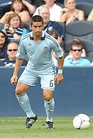 Kansas City midfielder Paulo Nagamura (6) in action... Sporting Kansas City defeated San Jose Earthquakes 2-1 at LIVESTRONG Sporting Park, Kansas City, Kansas.
