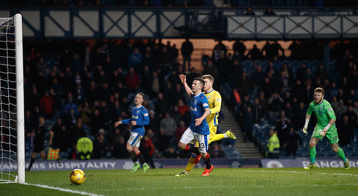 Jason Holt can't apply the finish which would have made the final score 4-2