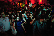 Young Indians are seen dancing and having a good time at The club LAP located in Hotel Samrat in New Delhi, India. Photograph: Sanjit Das/Panos