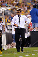 26 JUNE 2010:  DC United Head Coach Curt Onalfo during MLS soccer game between DC United vs Columbus Crew at Crew Stadium in Columbus, Ohio on May 29, 2010. The Crew defeated DC United 2-0.
