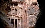 Jordan, Petra. Al Khazneh (the Treasury) as seen from the Siq&amp;#xA;<br />