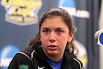 03 December 2011: Duke's Mollie Pathman. The Duke University Blue Devils held a press conference at KSU Soccer Stadium in Kennesaw, Georgia the day before playing Stanford in the NCAA Division I Women's Soccer College Cup championship game.