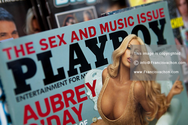 A copy of Playboy magazine is seen on display in a convenient store in Quebec City February 26, 2009