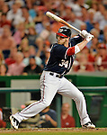 16 May 2012: Washington Nationals outfielder Bryce Harper in action against the Pittsburgh Pirates at Nationals Park in Washington, DC. The Nationals defeated the Pirates 7-4 in the first game of their 2-game series. Mandatory Credit: Ed Wolfstein Photo