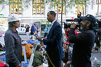 Remember interviews protester at the Occupy Wall Street Protest in New York City October 6, 2011.