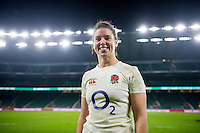 Sarah Hunter of England poses for a photo after the match. Old Mutual Wealth Series International match between England Women and Canada Women on November 26, 2016 at Twickenham Stadium in London, England. Photo by: Patrick Khachfe / Onside Images