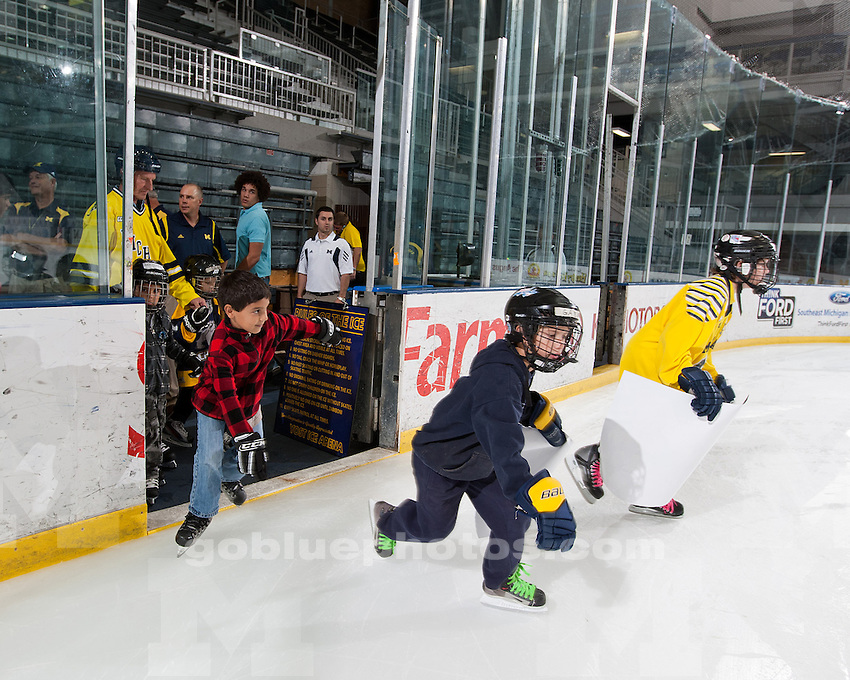 The University of Michigan ice hockey team held an open house for season ticket holders and the general public on Friday, Sept. 23 at Yost Ice Arena in Ann Arbor, Mich.