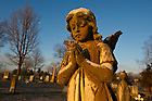 January 15, 2012;  The Gethsemani cemetery. The University of Notre Dame Folk Choir held a concert for the Monastic and local community during their 2012 retreat at The Abbey of Gethsemani, Trappist, Kentucky. Photo by Barbara Johnston/University of Notre Dame