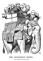 The Anglo-Indian Mutiny. (A bad example to the elephant!)