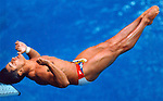 Diver Greg Louganis hits his head on the diving board during the 3-meter springboard competition at the  1988 Olympics in Seoul, Korea. Louganis rebounded to win gold.