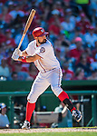28 August 2016: Washington Nationals first baseman Ryan Zimmerman in action against the Colorado Rockies at Nationals Park in Washington, DC. The Rockies defeated the Nationals 5-3 to take the rubber match of their 3-game series. Mandatory Credit: Ed Wolfstein Photo *** RAW (NEF) Image File Available ***