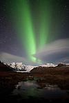Hrútfjallstindar aurora