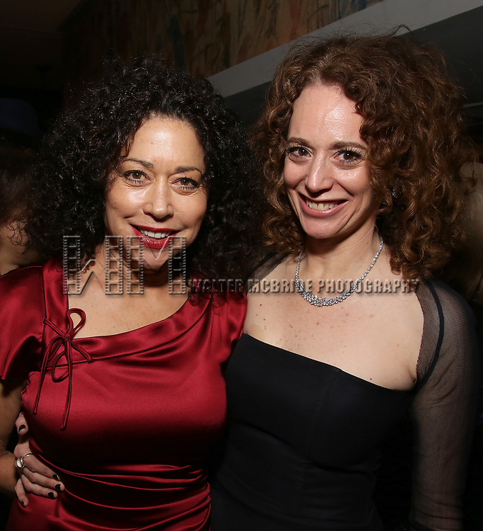 Mimi Lieber and Rebecca Taichman attends the Broadway Opening Night After Party for  'Indecent' at Bryant Park Grill on April 18, 2017 in New York City.