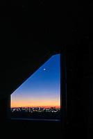 Graphic view Manila at twilight