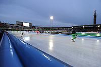 SCHAATSEN: AMSTERDAM: Olympisch Stadion, 28-02-2014, KPN NK Sprint/Allround, Coolste Baan van Nederland, overzicht, ©foto Martin de Jong