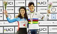 Picture by Simon Wilkinson/SWpix.com - 04/03/2017 - Cycling 2017 UCI Para-Cycling Track World Championships, Velosports Centre, Los Angeles USA - Shawn Morelli and Marie Claude Molnar