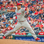 11 September 2016: Philadelphia Phillies pitcher David Hernandez on the mound against the Washington Nationals at Nationals Park in Washington, DC. The Nationals edged out the Phillies 3-2 to take the rubber match of their 3-game series. Mandatory Credit: Ed Wolfstein Photo *** RAW (NEF) Image File Available ***