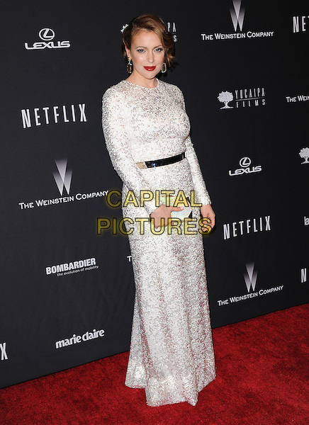 Alyssa Milano attends THE WEINSTEIN COMPANY &amp; NETFLIX 2014 GOLDEN GLOBES AFTER-PARTY held at The Beverly Hilton Hotel in Beverly Hills, California on January 12,2014                                                                               <br /> CAP/DVS<br /> &copy;DVS/Capital Pictures