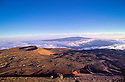 Mauna Loa summit from the top of Mauna Kea, with Lake Waiau (in crater) on the left; Island of Hawaii.