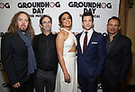 Tim Minchin, Danny Rubin, Barrett Doss, Andy Karl and Matthew Warchus attends the Broadway Opening Night After Party for 'Groundhog Day' at Gotham Hall on April 17, 2017 in New York City.